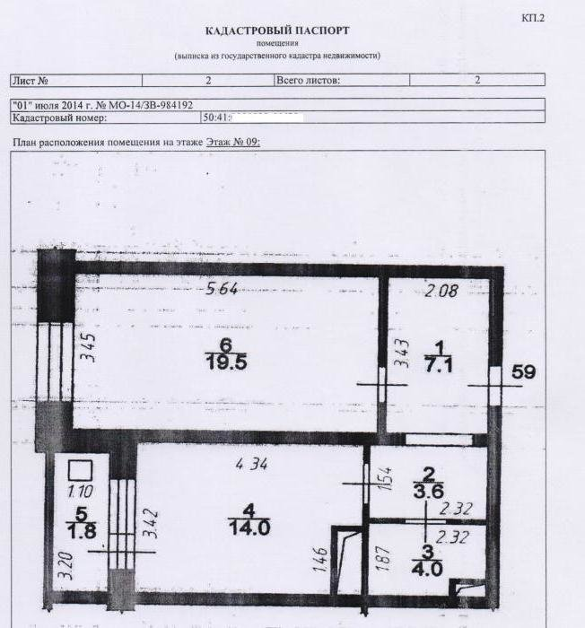 кадастровый план дома