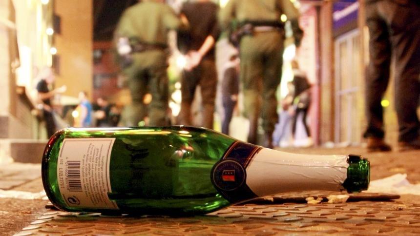 Распитие алкогольных напитков в общественном месте