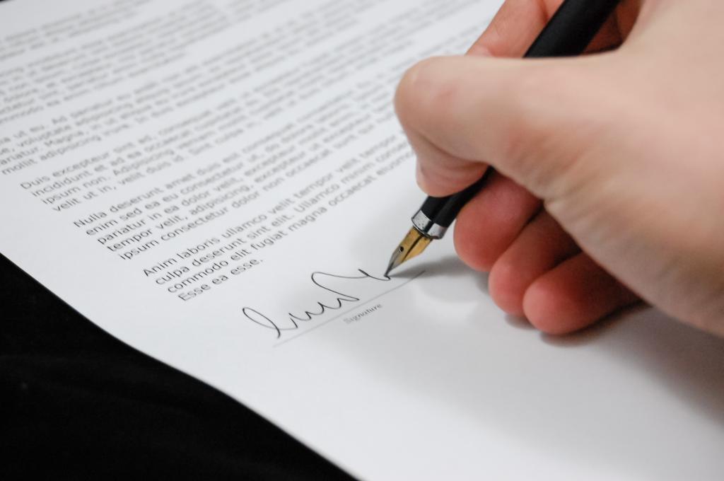 Проставление подписи