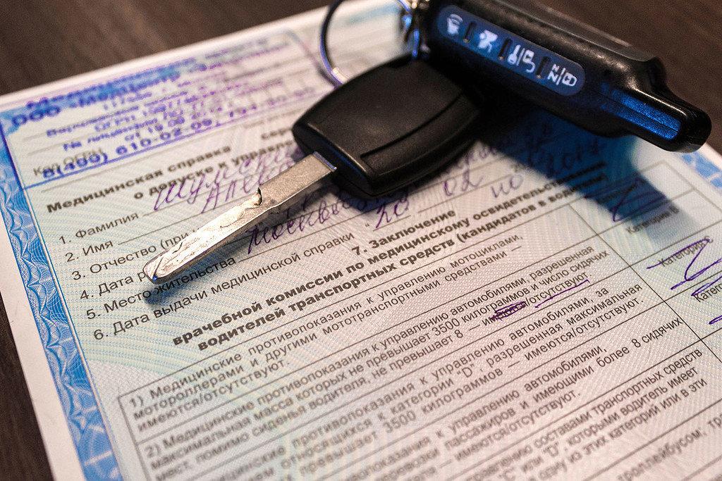 Медкарта для водительского удостоверения