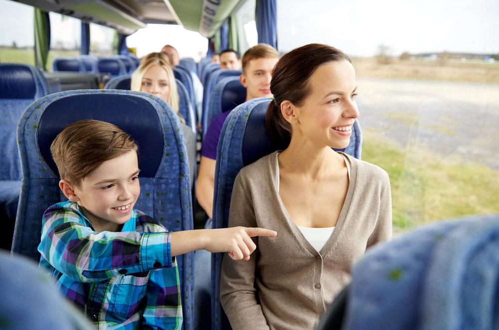 Перевозка детей с родителями в автобусе правила