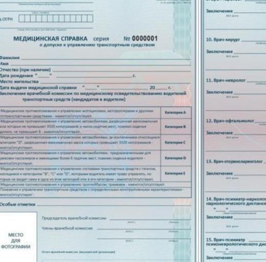 Справка для ГАИ для замены прав в России