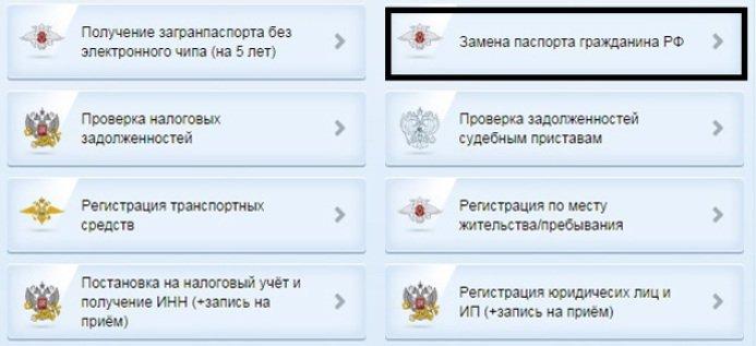 Паспорт в 45 через интернет