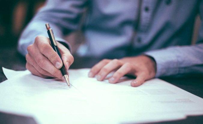Подписывание документа