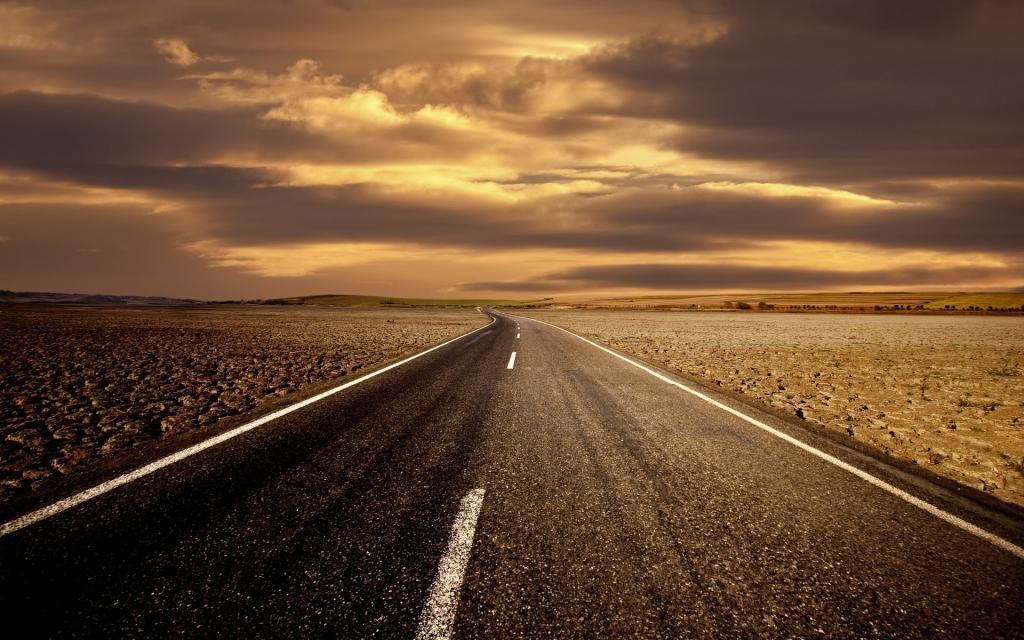 Дорога уходит вдаль