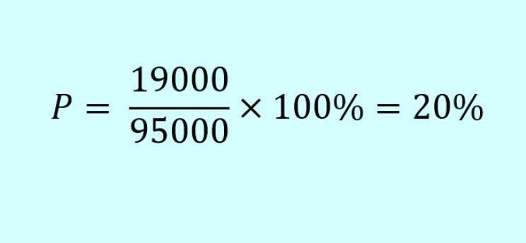 Как вычислить проценты формула