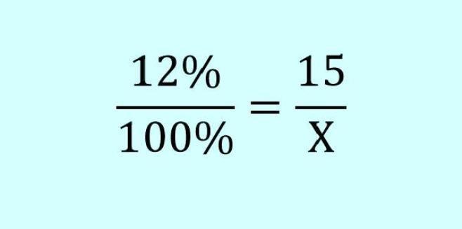 Проценты формула