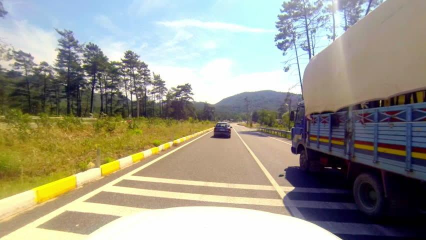 машины дороге