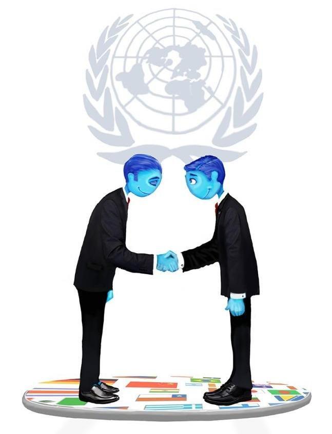 Символическое изображение дипломатов