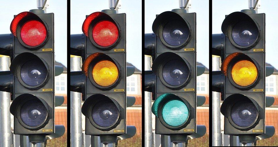 светофор для многополосного шоссе